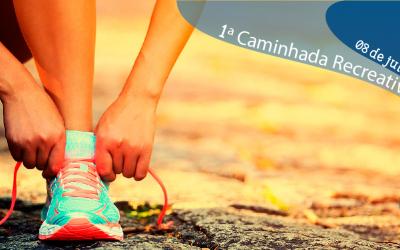 Venha participar conosco da 1ª Caminhada Recreativa #somandocomvoce!