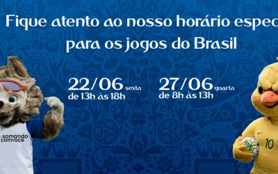 Expediente especial nos dias de jogo do Brasil – Somar na Copa 2018